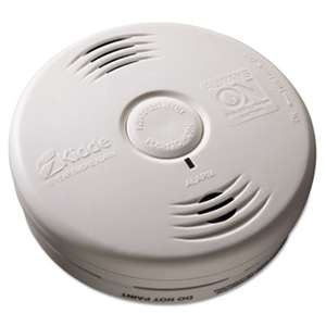 "KIDDE Bedroom Smoke Alarm w/Voice Alarm, Lithium Battery, 5.22""Dia x 1.6""Depth"