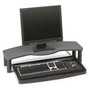ACCO BRANDS, INC. Comfort Desktop Keyboard Drawer With SmartFit, 26w x 13-1/2d, Black/Gray