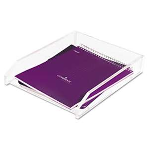 KANTEK INC. Single Letter Tray, Acrylic, Clear