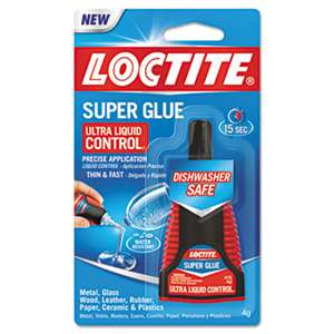 LOCTITE CORP. ACG Liquid Super Glue, Clear, 0.14oz, 1/ea