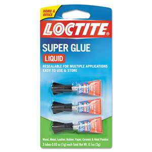 LOCTITE CORP. ACG Super Glue 3-Pack, 3g, Clear