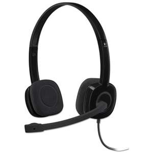 LOGITECH, INC. H151 Binaural Over-the-Head Stereo Headset, Black