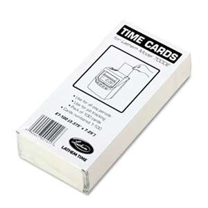 LATHEM TIME CORPORATION Time Card for Lathem Model 7000E, Numbered 1-100, Two-Sided, 100/Pack