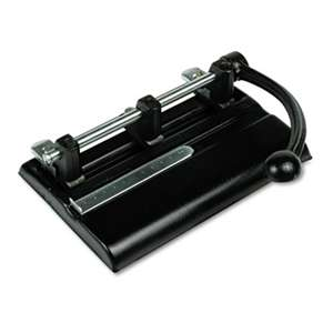 "PREMIER MARTIN YALE 40-Sheet Lever Action Two- to Seven-Hole Punch, 13/32"" Holes, Black"