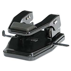 "PREMIER MARTIN YALE 40-Sheet Heavy-Duty Two-Hole Punch, 9/32"" Holes, Padded Handle, Black"