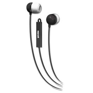 MAXELL CORP. OF AMERICA In-Ear Buds with Built-in Microphone, Black