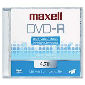 MAXELL CORP. OF AMERICA DVD-R Disc, 4.7GB, 16x