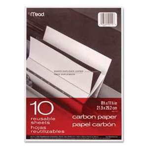 MEAD PRODUCTS Carbon Paper, Mill Finish, 8 1/2 x 11, 10 Sheets