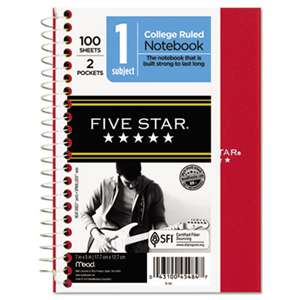 MEAD PRODUCTS Wirebound Notebook, College Rule, 7 x 5, 100 Sheets, Assorted
