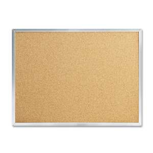 MEAD PRODUCTS Cork Bulletin Board, 24 x 18, Silver Aluminum Frame