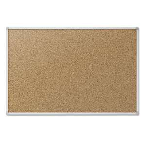 MEAD PRODUCTS Cork Bulletin Board, 48 x 36, Silver Aluminum Frame