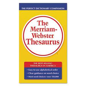 ADVANTUS CORPORATION The Merriam-Webster Thesaurus, Dictionary Companion, Paperback, 800 Pages