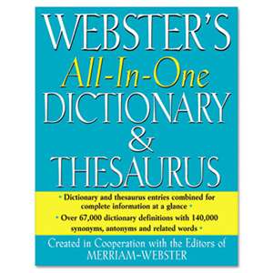 ADVANTUS CORPORATION All-In-One Dictionary/Thesaurus, Hardcover, 768 Pages