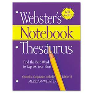 ADVANTUS CORPORATION Notebook Thesaurus, Three-Hole Punched, Paperback, 80 Pages