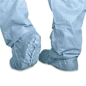 MEDLINE INDUSTRIES, INC. Polypropylene Non-Skid Shoe Covers, Large, Blue, 100/Box