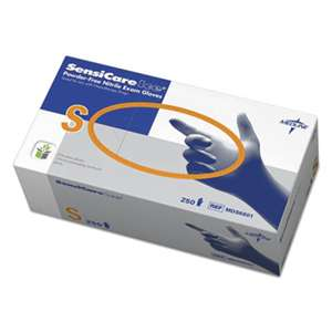 MEDLINE INDUSTRIES, INC. Sensicare Ice Nitrile Exam Gloves, Powder-Free, Small, Blue, 250/Box