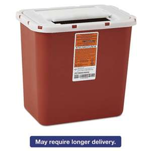 MEDLINE INDUSTRIES, INC. Sharps Container, Freestanding/Wall Mountable, 8qt, 23 1/2 x 19 7/10 x 28, Red