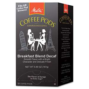 MELITTA USA Coffee Pods, Breakfast Blend Decaf, 18 Pods/Box