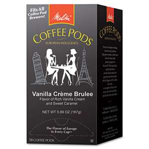 MELITTA USA Coffee Pods, Vanilla CrŠme Brulee, 18 Pods/Box