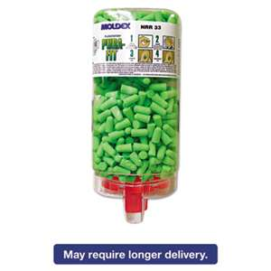 MOLDEX-METRIC, INC. Pura-Fit PlugStation Earplug Dispenser, Cordless, 33NRR, Bright Green, 500 Pairs