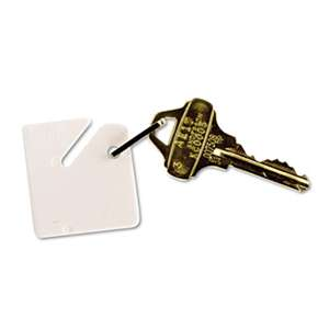 MMF INDUSTRIES Numbered Slotted Rack Key Tags, Plastic, 1 1/2 x 1 1/2, White, 20/Pack
