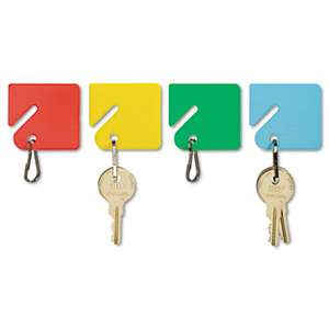 MMF INDUSTRIES Slotted Rack Key Tags, Plastic, 1 1/2 x 1 1/2, Assorted, 20/Pack