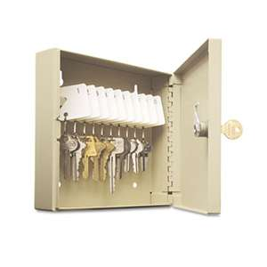 MMF INDUSTRIES Uni-Tag Key Cabinet, 10-Key, Steel, Sand, 6 7/8? x 2? x 6 3/4?