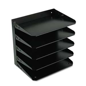 MMF INDUSTRIES Steelmaster Multi-Tier Horizontal Letter Organizers, Five Tier, Steel, Black