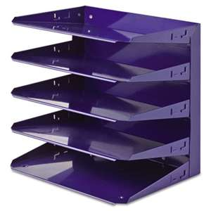 MMF INDUSTRIES Soho Horizontal Organizer, Letter, Five Tier, Steel, Blue