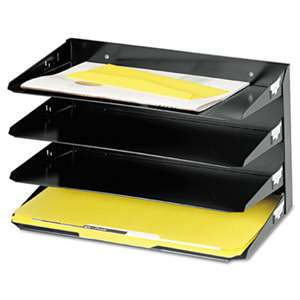 MMF INDUSTRIES Steelmaster Multi-Tier Horizontal Legal Organizers, Four Tier, Steel, Black