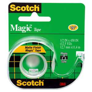 "3M/COMMERCIAL TAPE DIV. Magic Tape in Handheld Dispenser, 1/2"" x 450"", 1"" Core, Clear"