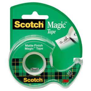 "Scotch 105 Magic Tape w/Refillable Dispenser, 3/4"" x 300"", Clear"