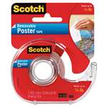 "3M/COMMERCIAL TAPE DIV. Wallsaver Removable Poster Tape, Double-Sided, 3/4"" x 150"" w/Dispenser"