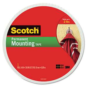 "3M/COMMERCIAL TAPE DIV. Foam Mounting Double-Sided Tape, 3/4"" Wide x 350"" Long"