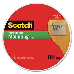 "3M/COMMERCIAL TAPE DIV. Foam Mounting Tape, 3/4"" Wide x 1368"" Long"
