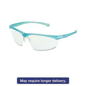 3M/COMMERCIAL TAPE DIV. Refine 201 Safety Glasses, Half-frame, Clear AntiFog Lens, Black Checkered Frame