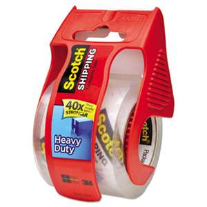 "3M/COMMERCIAL TAPE DIV. 3850 Heavy-Duty Packaging Tape in Sure Start Disp. 1.88"" x 800"", Clear"