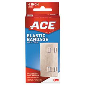 "3M/COMMERCIAL TAPE DIV. Elastic Bandage with E-Z Clips, 4"" x 64"""
