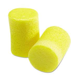 3M/COMMERCIAL TAPE DIV. EúAúR Classic Earplugs, Pillow Paks, Uncorded, Foam, Yellow, 30 Pairs