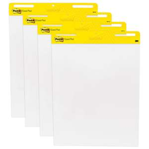 3M/COMMERCIAL TAPE DIV. Self Stick Easel Pads, 25 x 30, White, 4 30 Sheet Pads/Carton