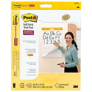 3M/COMMERCIAL TAPE DIV. Self Stick Wall Easel Primary Ruled Pad, 20w x 23h, White, 20 Sheets, 2/Pack