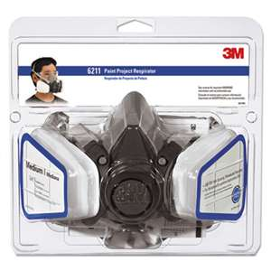 3M/COMMERCIAL TAPE DIV. Half Facepiece Paint Spray/Pesticide Respirator, Medium