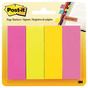 3M/COMMERCIAL TAPE DIV. Page Flag Markers, Assorted Brights, 50 Strips/Pad, 4 Pads/Pack