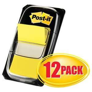 3M/COMMERCIAL TAPE DIV. Marking Page Flags in Dispensers, Yellow, 12 50-Flag Dispensers/Box