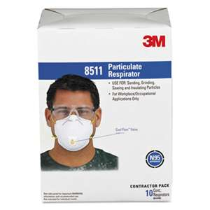 3M/COMMERCIAL TAPE DIV. Particulate Respirator w/Cool Flow Exhalation Valve, 10 Masks/Box