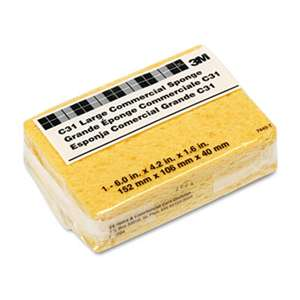 3M/COMMERCIAL TAPE DIV. Commercial Cellulose Sponge, Yellow, 4 1/4 x 6