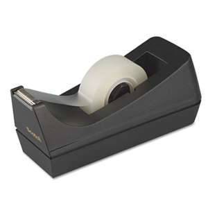 "3M/COMMERCIAL TAPE DIV. Desktop Tape Dispenser, 1"" Core, Weighted Non-Skid Base, Black"
