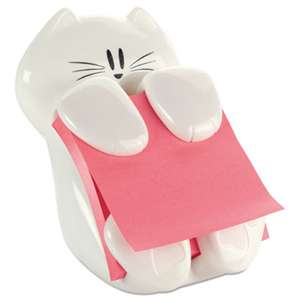 3M/COMMERCIAL TAPE DIV. Pop-Up Note Dispenser Cat Shape, 3 x 3, White