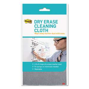 "3M/COMMERCIAL TAPE DIV. Dry Erase Cleaning Cloth, Fabric, 10 5/8""w x 10 5/8""d"