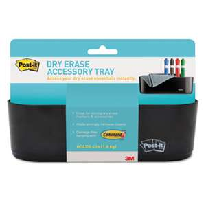 3M/COMMERCIAL TAPE DIV. Dry Erase Accessory Tray, 8 1/2 x 3 x 5 1/4, Black